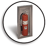 Fire Extinguishers and Cabinet